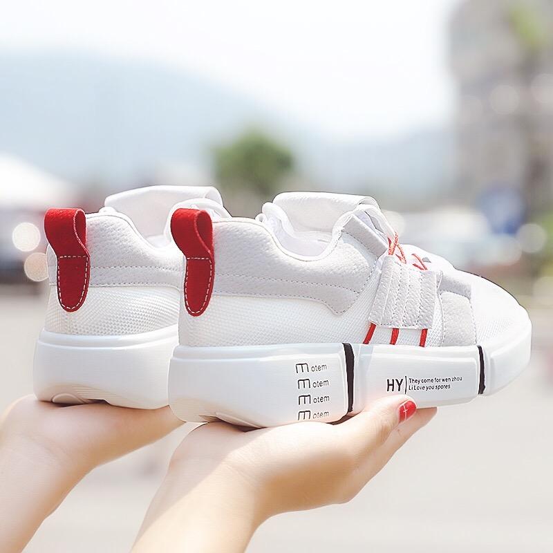 运动鞋 网面小白鞋女透气2018夏新款韩版运动鞋女厚底跑步鞋学生休闲鞋女_推荐淘宝好看的女运动鞋