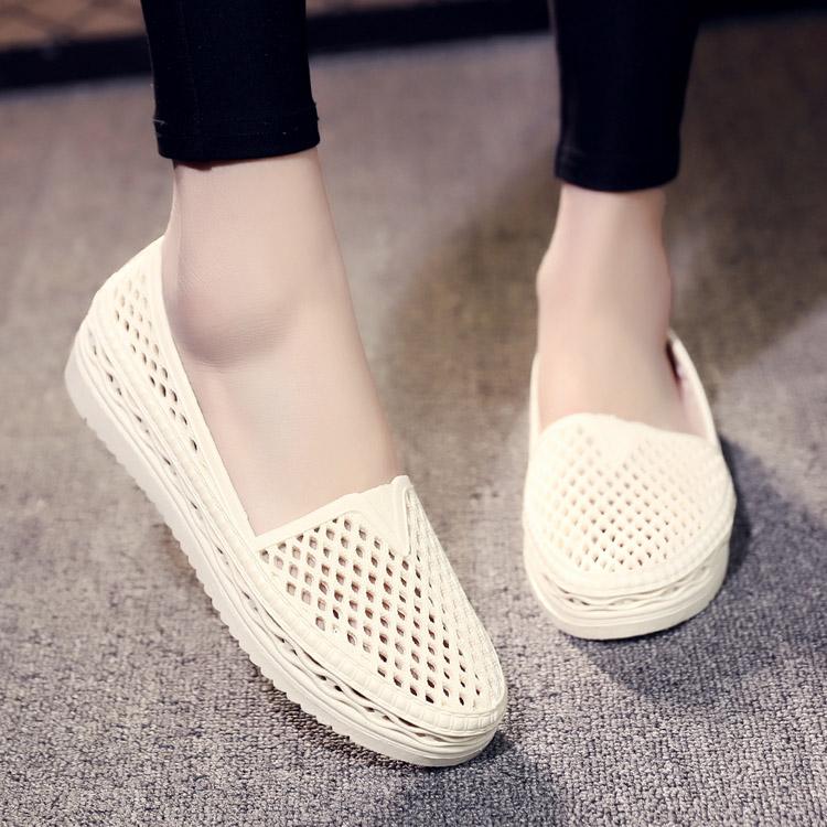 洞洞鞋 韩版塑料凉鞋女夏新护士工作鞋包头鞋白色沙滩鞋鸟巢镂空洞洞鞋_推荐淘宝好看的女洞洞鞋