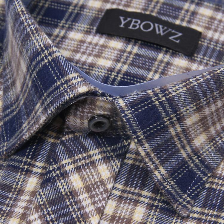 男士格子衬衫 秋冬款男士长袖衬衫纯棉格子加厚休闲磨毛料中老年全棉衬衣送父亲_推荐淘宝好看的男格子衬衫