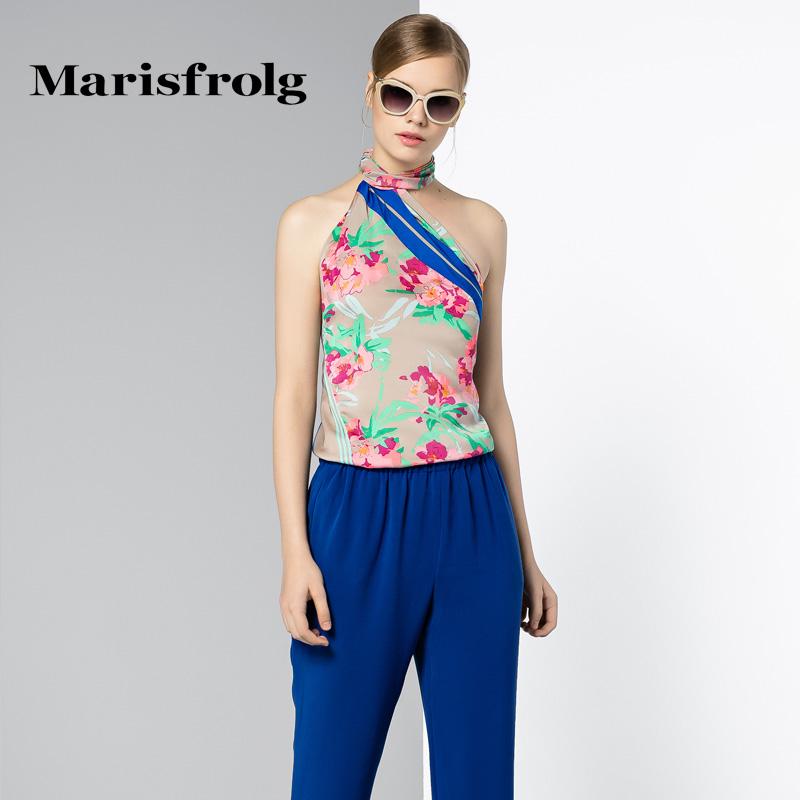 玛丝菲尔女装 Marisfrolg玛丝菲尔 浪漫波西米亚印花上衣 专柜正品夏新女装_推荐淘宝好看的玛丝菲尔