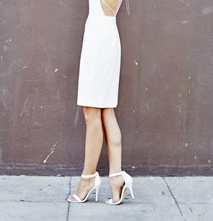 白色高跟凉鞋 silla rulers  女鞋 凉鞋 白色 超高跟 真皮 宴会鞋  简约款_推荐淘宝好看的女白色高跟凉鞋