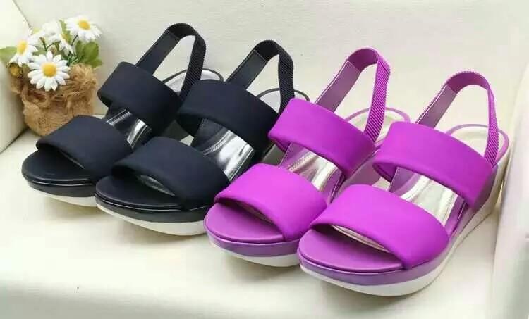 紫色鱼嘴鞋 17款CK凉鞋松糕底露趾女凉鞋厚底超爽凉鞋欧美款紫色灰色_推荐淘宝好看的紫色鱼嘴鞋