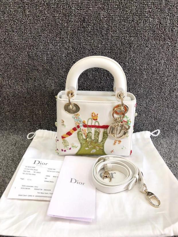迪奥手提包 日本中古vintage二手Dior迪奥双面刺绣mini手提包单肩斜挎女包_推荐淘宝好看的迪奥手提包
