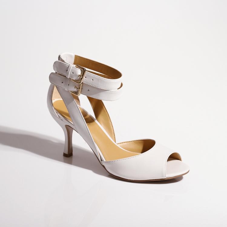 白色鱼嘴鞋 纯甄。速抢特惠!九西 羊皮鱼嘴绕踝白色高跟凉鞋 好看舒适_推荐淘宝好看的白色鱼嘴鞋