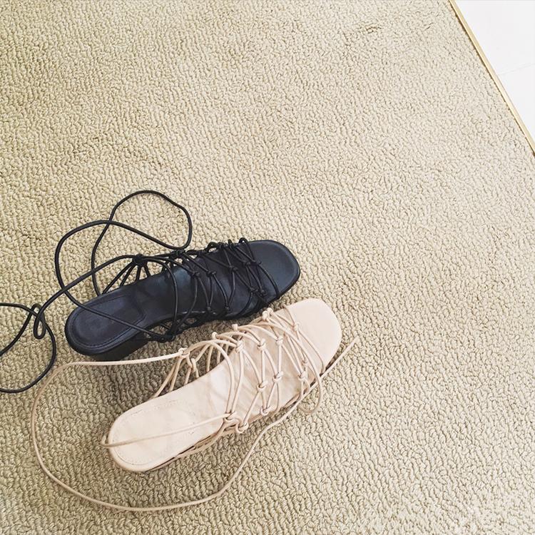 镂空罗马鞋 2018欧美交叉绑带凉鞋女粗跟镂空鱼嘴性感高跟罗马凉鞋网红同款鞋_推荐淘宝好看的镂空罗马鞋