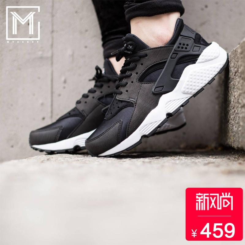 耐克老款运动鞋 Nike Air Huarache 黑白华莱士女子运动休闲跑步鞋634835-006-108_推荐淘宝好看的女耐克运动鞋