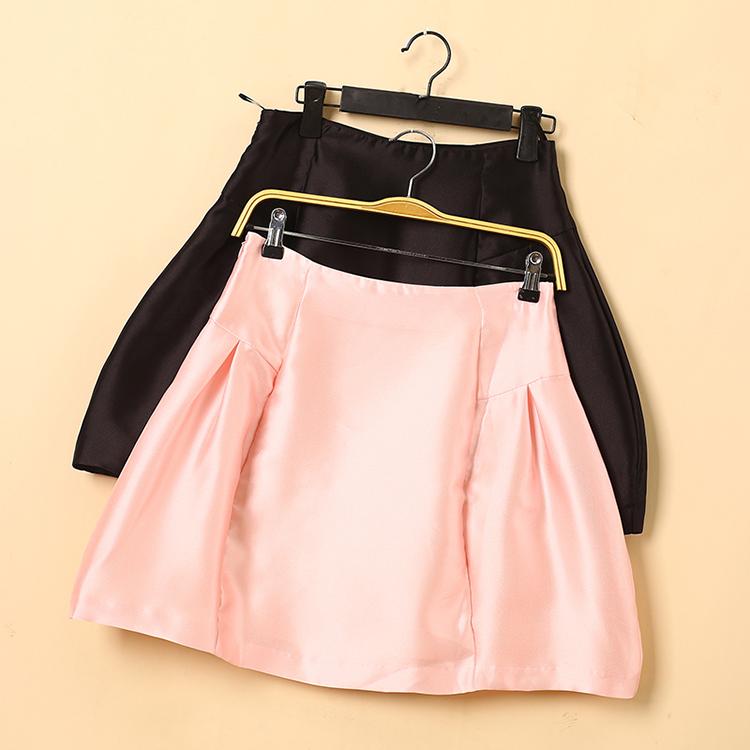 半身裙 [太]兰米特卖夏新正品剪标纯色压褶百搭时尚半身裙短裙_推荐淘宝好看的半身裙