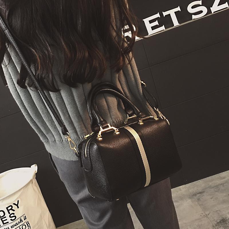 单肩包 小包包2018新款秋冬欧美时尚复古波士顿女包枕头包单肩斜挎手提包_推荐淘宝好看的女单肩包