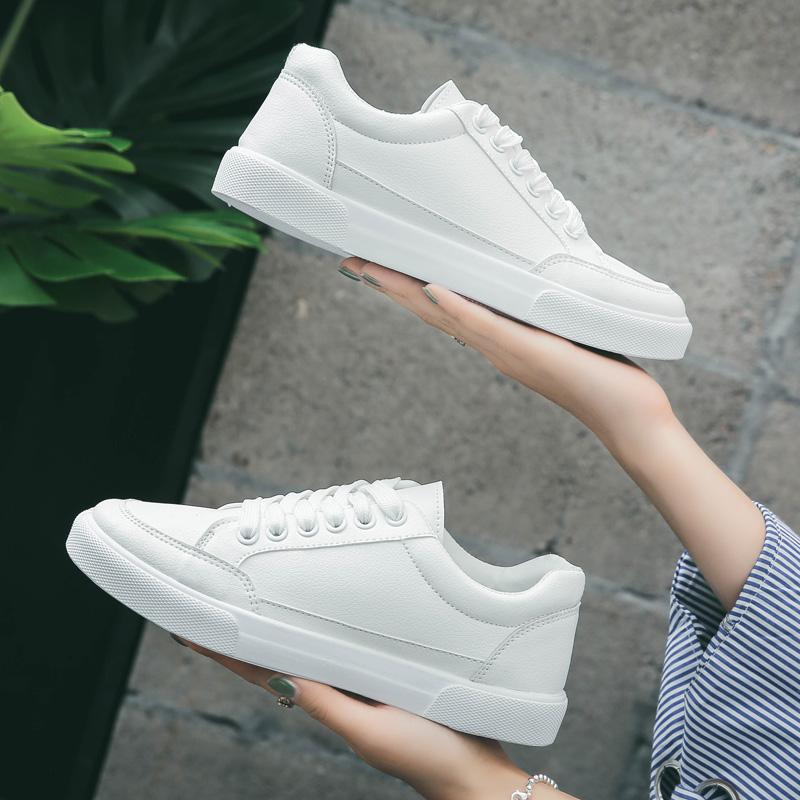 白色帆布鞋 2018春季小白鞋女新款百搭韩版学生平底帆布女鞋1992白色休闲板鞋_推荐淘宝好看的白色帆布鞋
