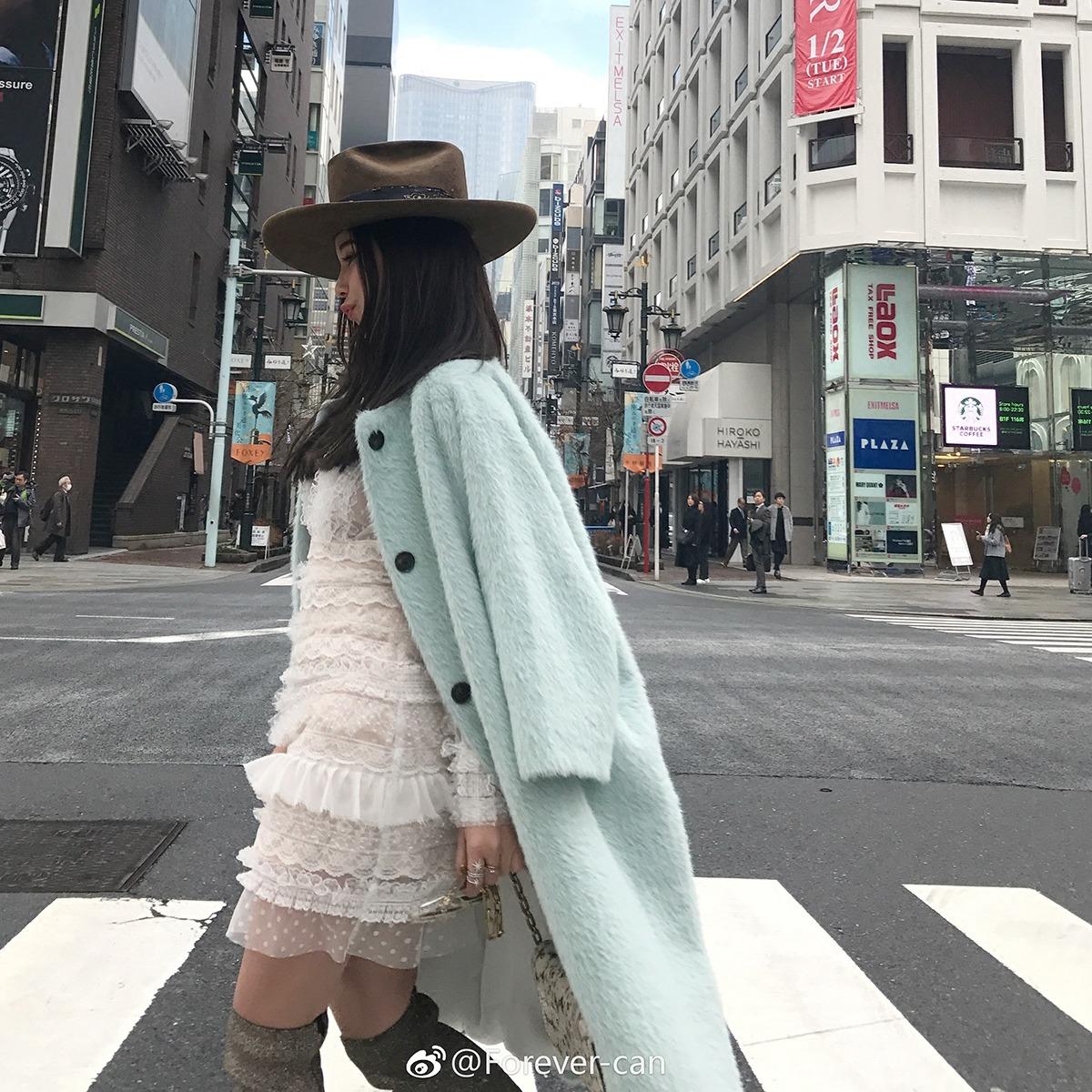 皮草 Forevercan2018春季新款 简约时尚气质中长款宽松显瘦皮草外套女_推荐淘宝好看的女皮草