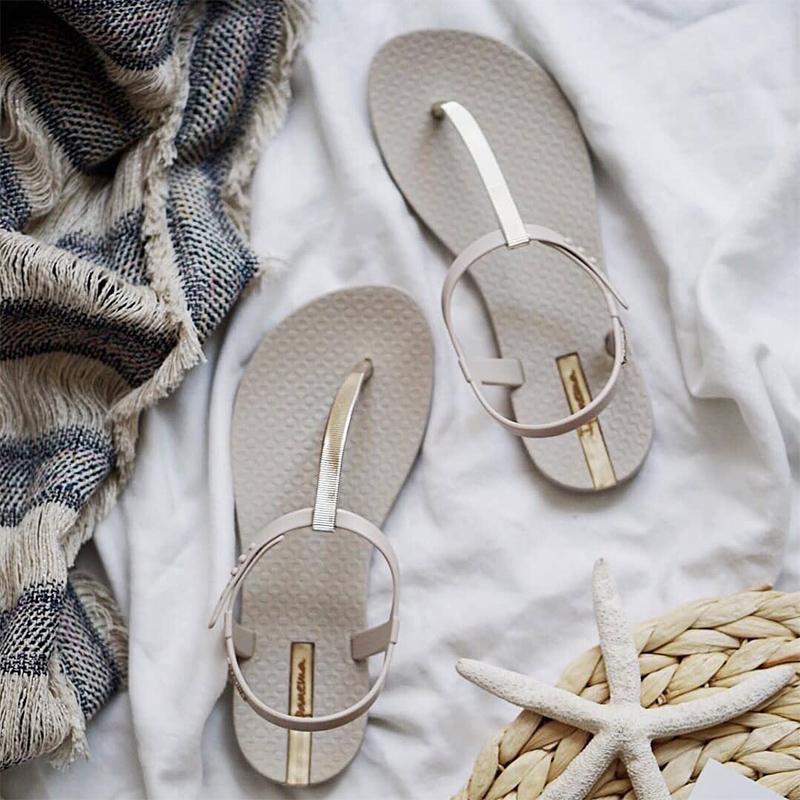 罗马女凉鞋 凉鞋女外穿新款夏季平底时尚罗马女鞋夹脚海边沙滩鞋学生凉拖鞋_推荐淘宝好看的女罗马凉鞋