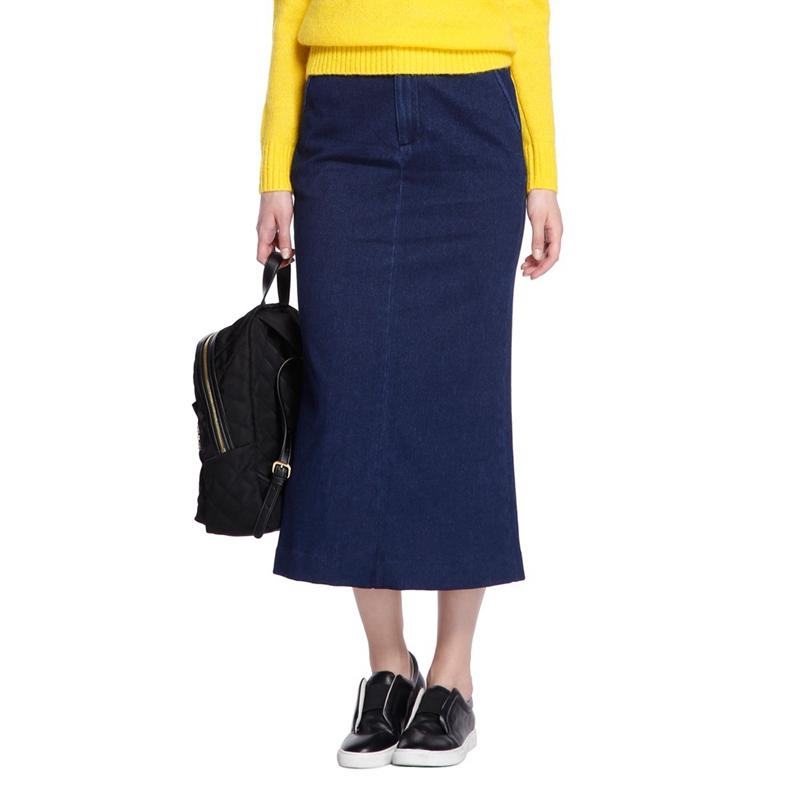 淘宝欧时力女装 ochirly欧时力新女装棉质中长款包臀裙牛仔裙1HN4070960_推荐淘宝好看的欧时力女装