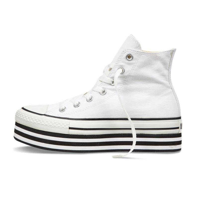 匡威厚底鞋 Converse匡威 女款松糕厚底帆布鞋高邦鞋 136721C_推荐淘宝好看的女匡威厚底鞋