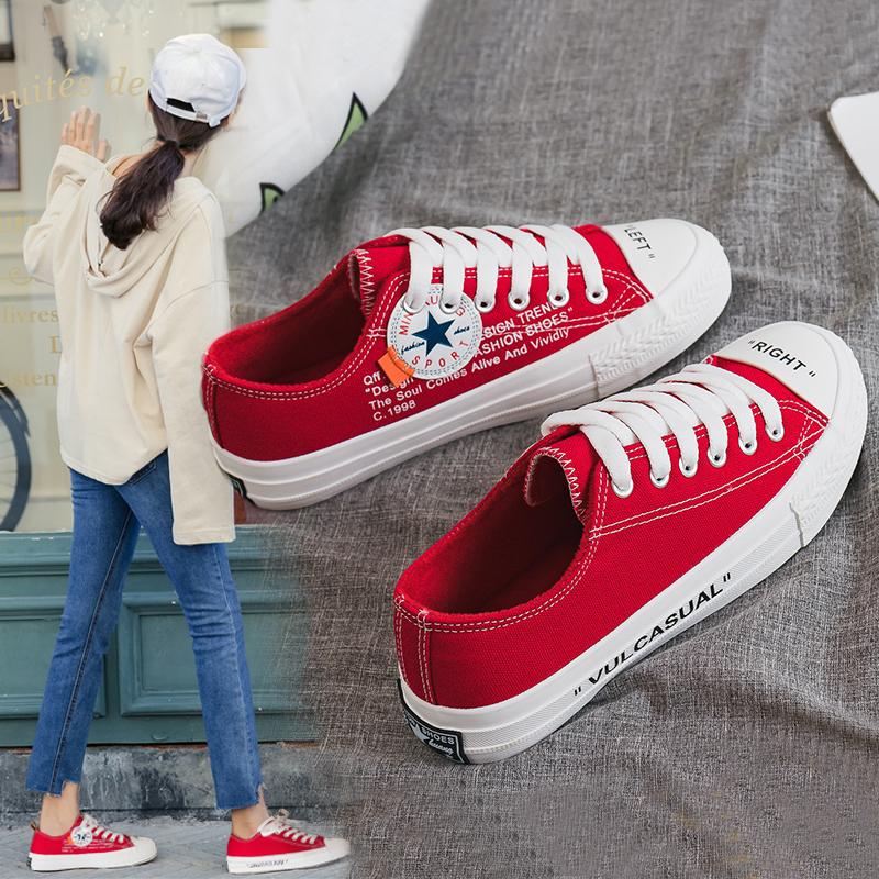 红色帆布鞋 帆布鞋女冬季加绒学生百搭棉鞋1970s万年款韩版原宿复古红色球鞋_推荐淘宝好看的红色帆布鞋