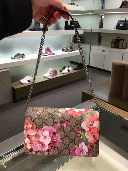 新款古驰钱包 欧洲代购 Gucci女包 新款花卉 链条女包 钱包手包400235_推荐淘宝好看的女新款古驰钱包