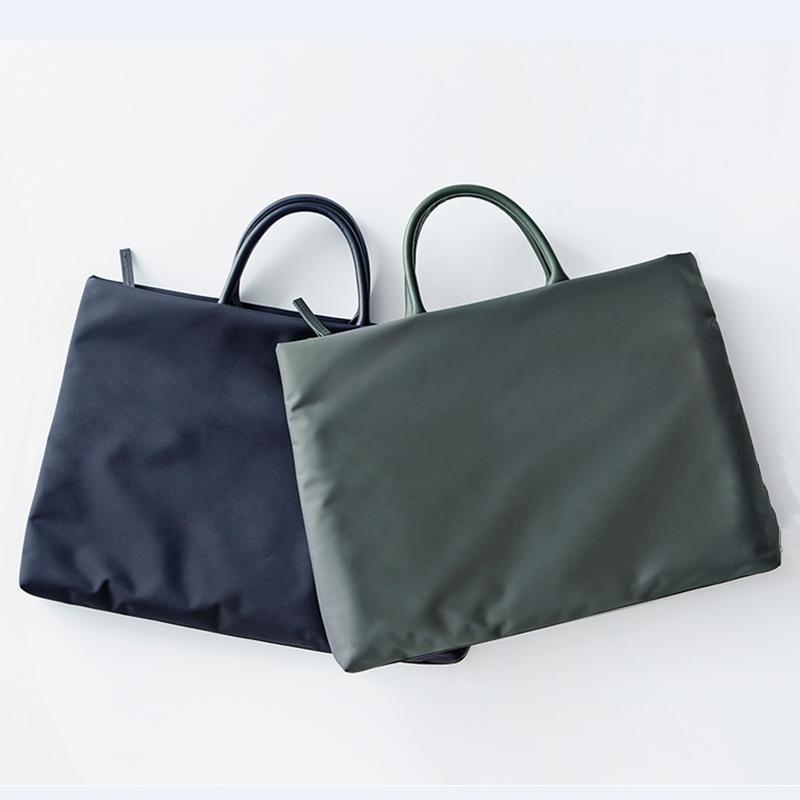 手提包 简约11寸13.3寸15.6电脑包纯色防水公文包男女款商务手提包文件袋_推荐淘宝好看的女手提包