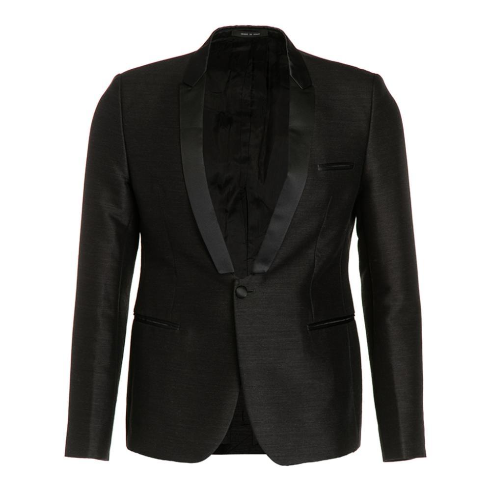 阿玛尼男士西装 EMPORIO ARMANI阿玛尼 黑色青果领长袖简约百搭男士西装外套_推荐淘宝好看的阿玛尼男西装