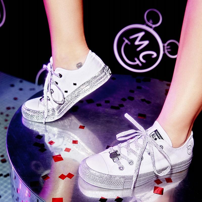 匡威厚底鞋 美国代购正品 CONVERSE X MILEY CYRUS 联名厚底女子板鞋休闲鞋_推荐淘宝好看的女匡威厚底鞋