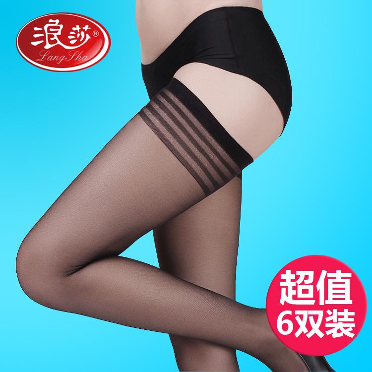 丝袜 6双 浪莎长统丝袜女袜防勾丝长筒袜过膝袜丝袜超薄透明款夏高筒袜_推荐淘宝好看的丝袜