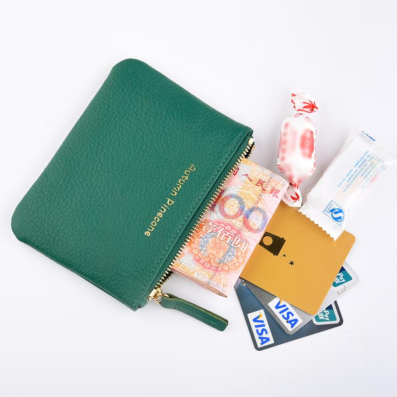 钱包 男女式真皮零钱包头层牛皮拉链卡包钥匙包简约迷你多彩硬币包_推荐淘宝好看的女钱包