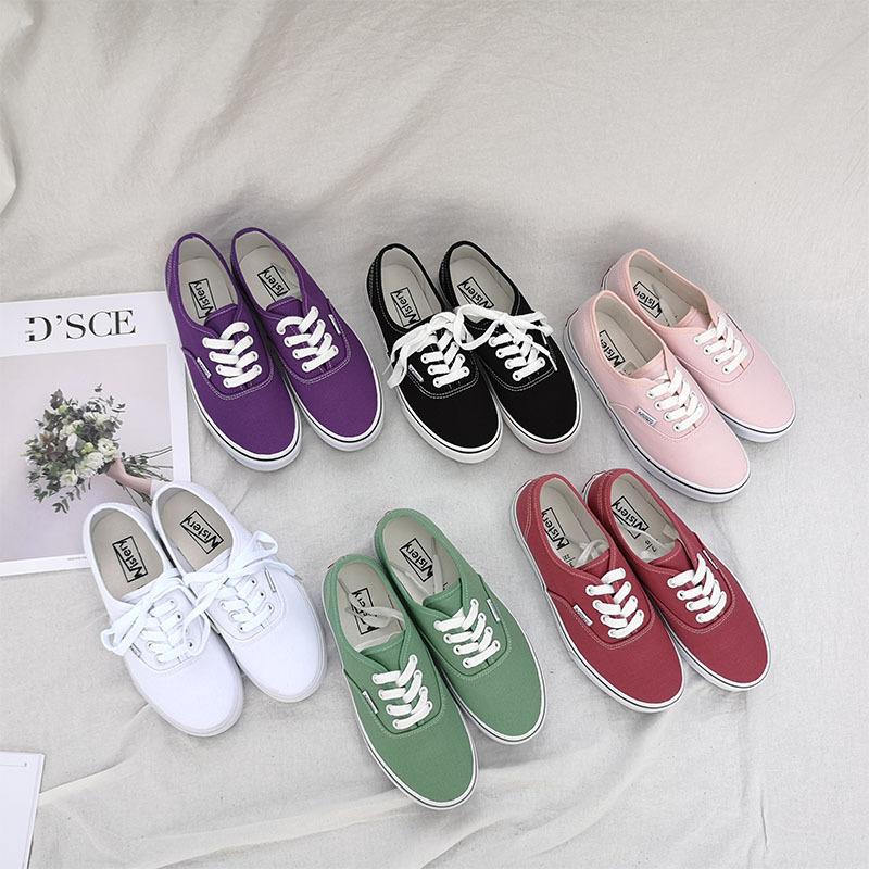 紫色帆布鞋 韩国ins同款紫色帆布鞋女港味学生板鞋ulzzang百搭复古滑板鞋女_推荐淘宝好看的紫色帆布鞋