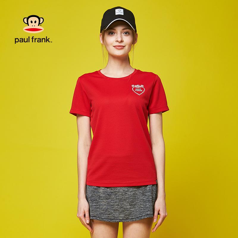 新款大嘴猴t恤 Paul Frank大嘴猴运动T恤女夏季短袖速干2018新款_推荐淘宝好看的女新款大嘴猴t恤
