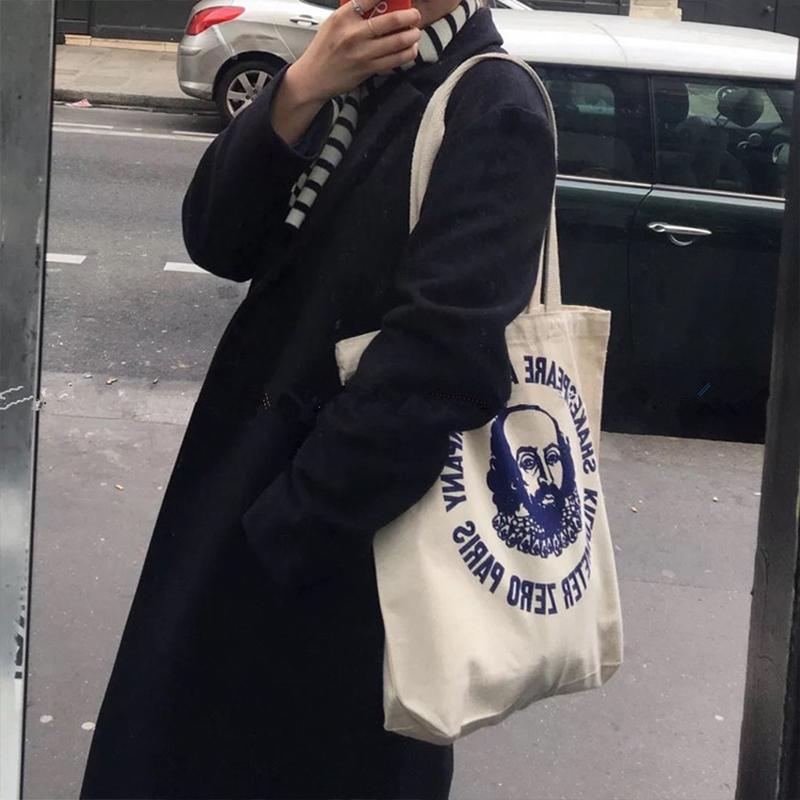 学生单肩包 帆布包女手提单肩2018新款斜挎袋包包韩版大学生上课背的包大容量_推荐淘宝好看的女学生单肩包