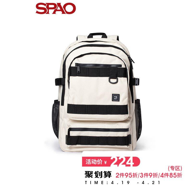 双肩包 SPAO新款韩版男女旅游大容量双肩包学生书包SPAK922A82_推荐淘宝好看的女双肩包