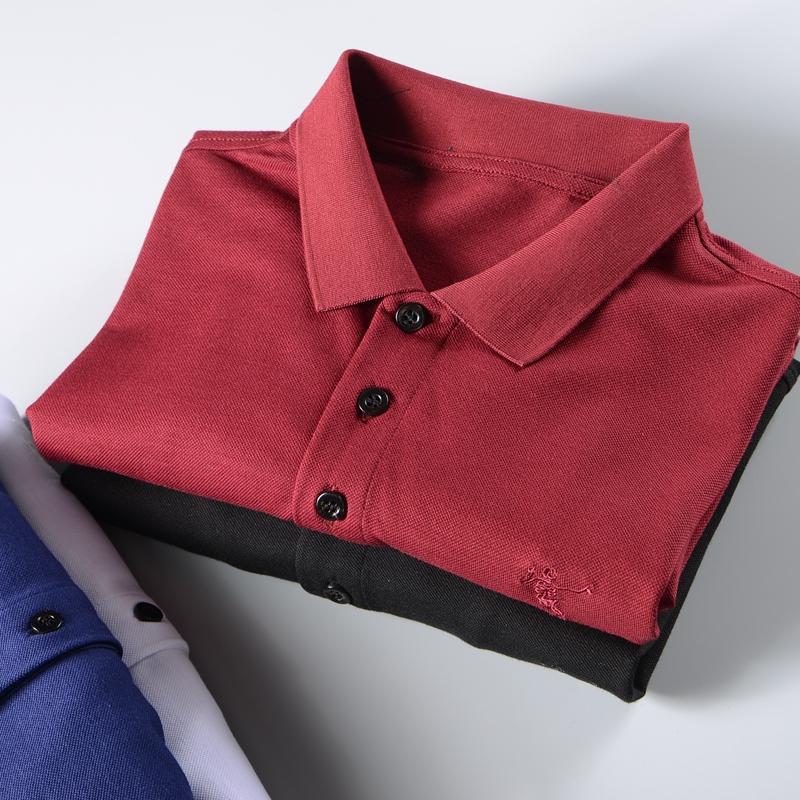 外贸polo衫 夏季新款红色商务休闲外贸白色纯棉黑色修身短袖翻领polo衫t恤男_推荐淘宝好看的男外贸polo衫