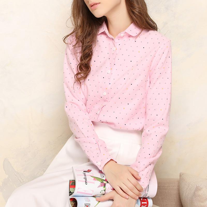 长袖女衬衫 娜拉的衬衫 2018春装新款女装白色棉上衣休闲韩版长袖女衬衣A26T_推荐淘宝好看的女长袖女衬衫