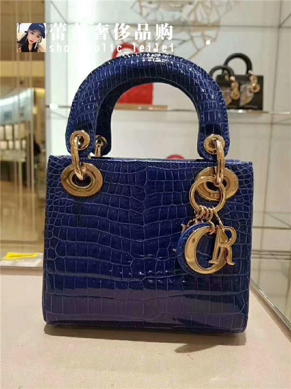 迪奥手提包 法国代购 Dior迪奥 戴妃包鳄鱼皮手提包单肩斜挎包女包_推荐淘宝好看的迪奥手提包