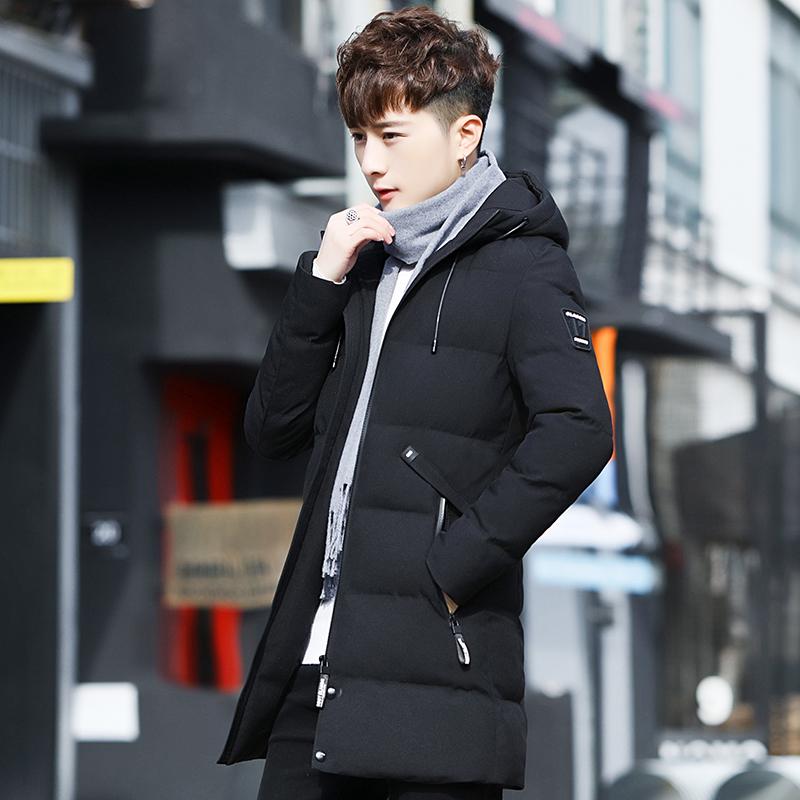 外套夹克 2017新款外套男棉衣服韩版潮流夹克男士加厚风衣帅气中长款棉袄_推荐淘宝好看的男外套夹克