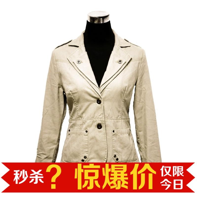绿色风衣 OGOM 全场清仓 复古短款西装外套女休闲风衣 包邮_推荐淘宝好看的绿色风衣