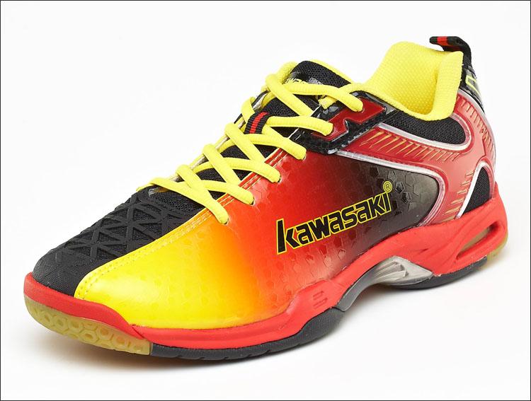 黄色运动鞋 特价清仓 正品川崎羽毛球鞋男款运动鞋 黄色超轻减震耐磨K-507_推荐淘宝好看的黄色运动鞋