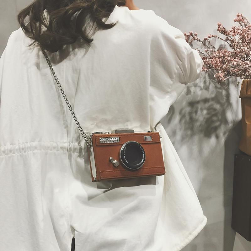 绿色斜挎包 链条迷你小包包女2018秋季新款港风复古相机盒子包单肩斜挎小方包_推荐淘宝好看的绿色斜挎包