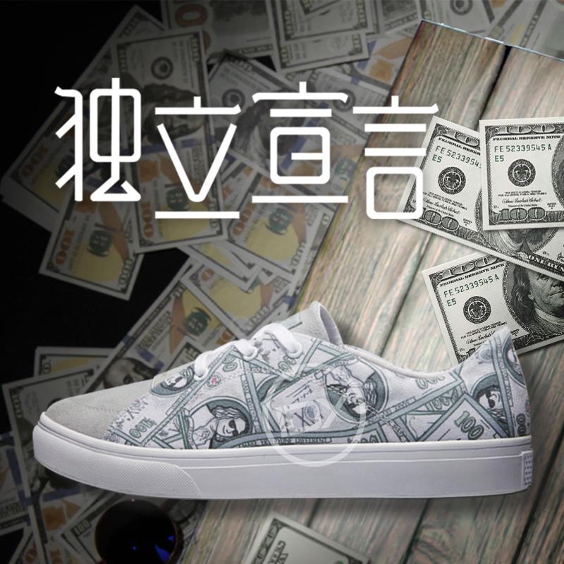 低帮涂鸦帆布鞋 IDX爱定客独立宣言 夏季涂鸦帆布鞋男女韩版低帮运动休闲潮板鞋_推荐淘宝好看的低帮涂鸦帆布鞋