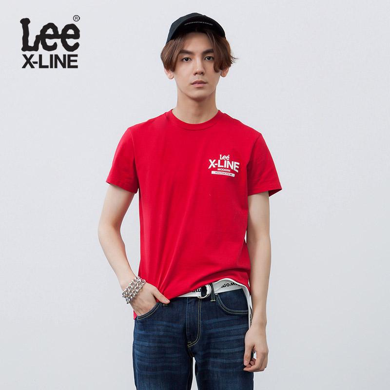红色T恤 Lee男装 2018春夏新品X-line红色短袖T恤L319121RF8NP_推荐淘宝好看的红色T恤