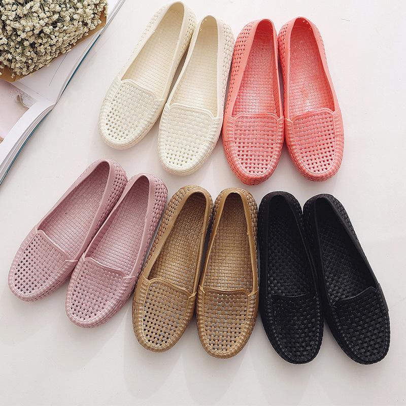 白色凉鞋 夏季塑料凉鞋女护士鞋白色工作鞋沙滩鞋鸟巢洞洞鞋孕妇鞋妈妈鞋_推荐淘宝好看的白色凉鞋
