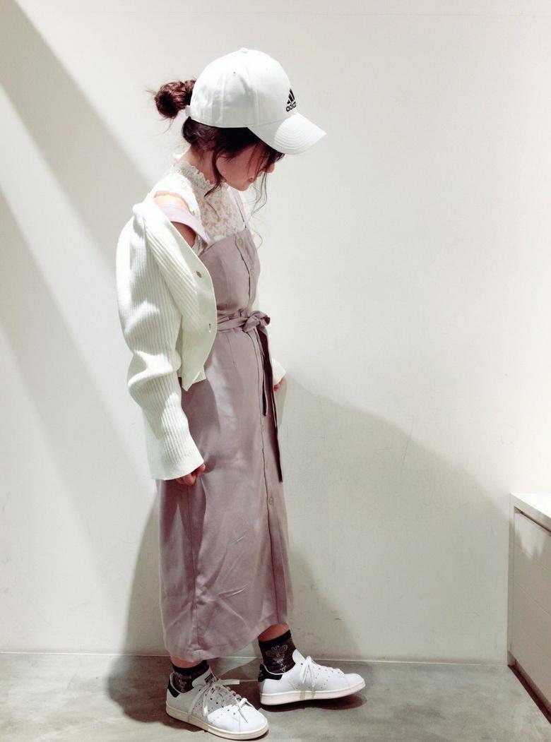 连衣裙 多次追加~W+ 18春 穿搭轻松减龄 可调节肩带单排扣中长款连衣裙OP_推荐淘宝好看的连衣裙