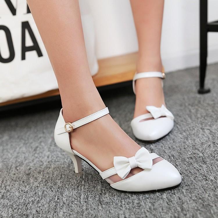 粉红色凉鞋 靓鞋粉红色蓝色米色白色包头女鞋高跟婚鞋伴娘小码凉鞋大码鞋 JL_推荐淘宝好看的粉红色凉鞋