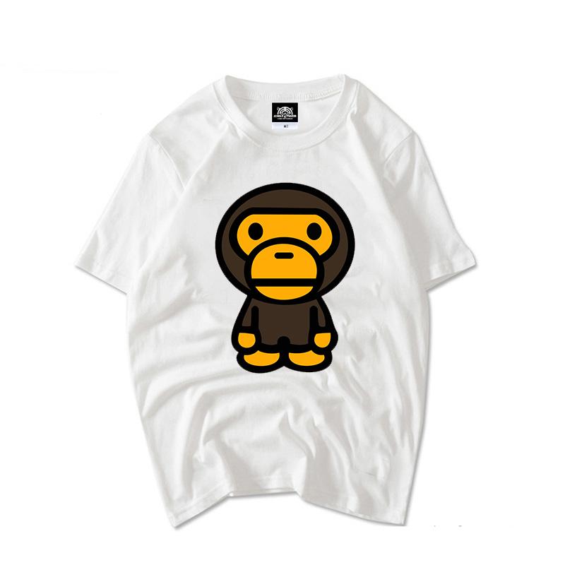 新款大嘴猴t恤 2018新款大嘴小熊猴维尼纯棉短袖T恤男女情侣款宽松大码bf风闺蜜t_推荐淘宝好看的女新款大嘴猴t恤