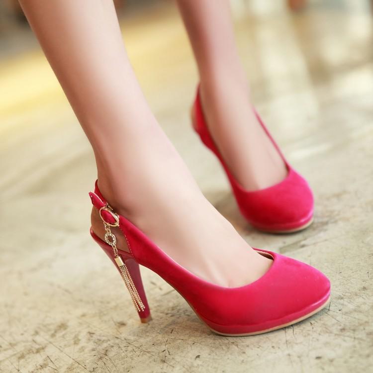 粉红色罗马鞋 超大码白色厚底伴娘粉红色一字式扣带工作日常银色罗马鞋鞋子凉鞋_推荐淘宝好看的粉红色罗马鞋