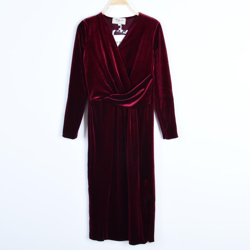 红色连衣裙 新款秋冬连衣裙LYTQ-918-9.30_推荐淘宝好看的红色连衣裙
