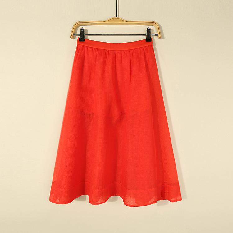 半身裙 [欧]兰米特卖夏装正品剪标假两件中长高腰透视半身裙_推荐淘宝好看的半身裙