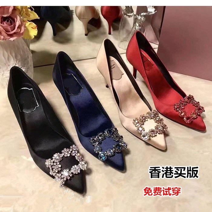高跟rv鞋子 平跟成年新娘中高跟新娘鞋 水晶鞋白色新款rv防水台红色夜店鞋子_推荐淘宝好看的高跟rv鞋子