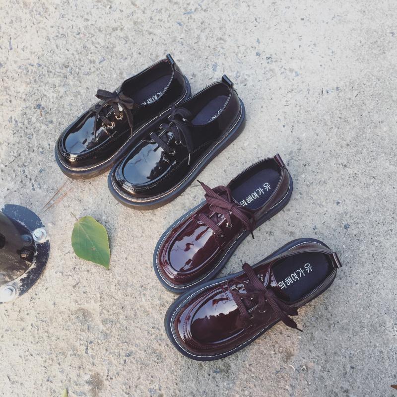 厚底松糕鞋 2018春季新款英伦风女鞋学生百搭厚底松糕鞋韩版复古学院小皮鞋女_推荐淘宝好看的女厚底松糕鞋