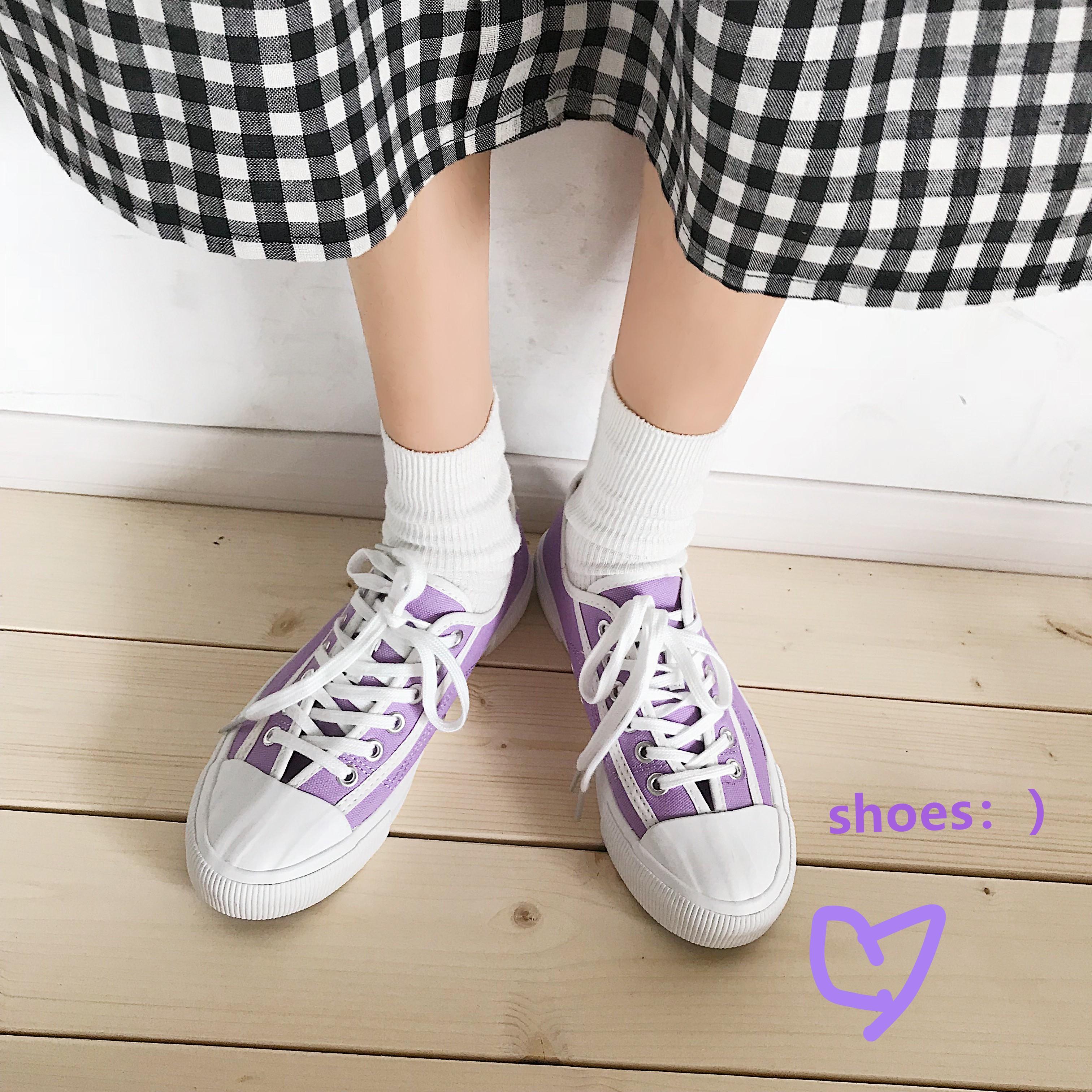韩版复古板鞋 南在南方夏季新款港风复古百搭韩版帆布鞋学生原宿ulzzang板鞋_推荐淘宝好看的韩版复古板鞋