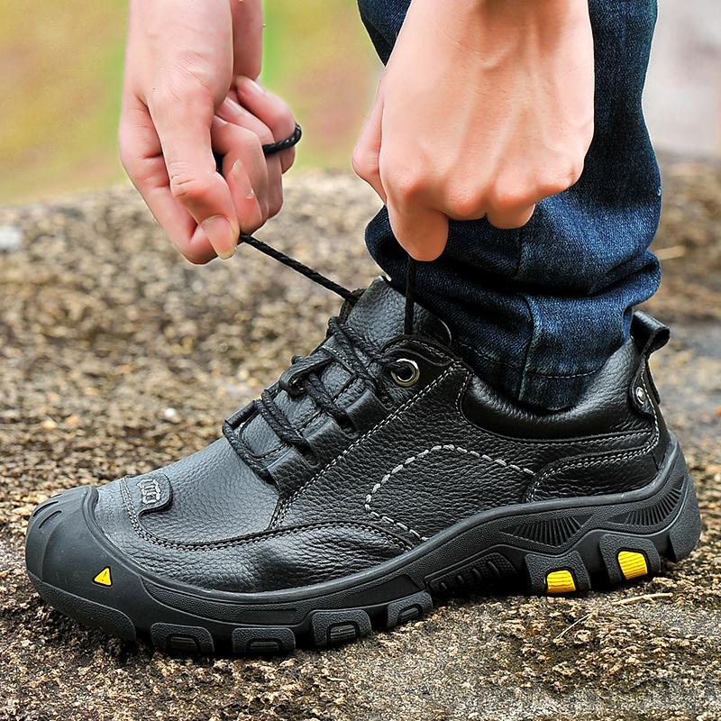 登山鞋 夏季真皮皮鞋户外鞋登山鞋男鞋防水鞋防滑徒步鞋旅游靴运动爬山鞋_推荐淘宝好看的登山鞋