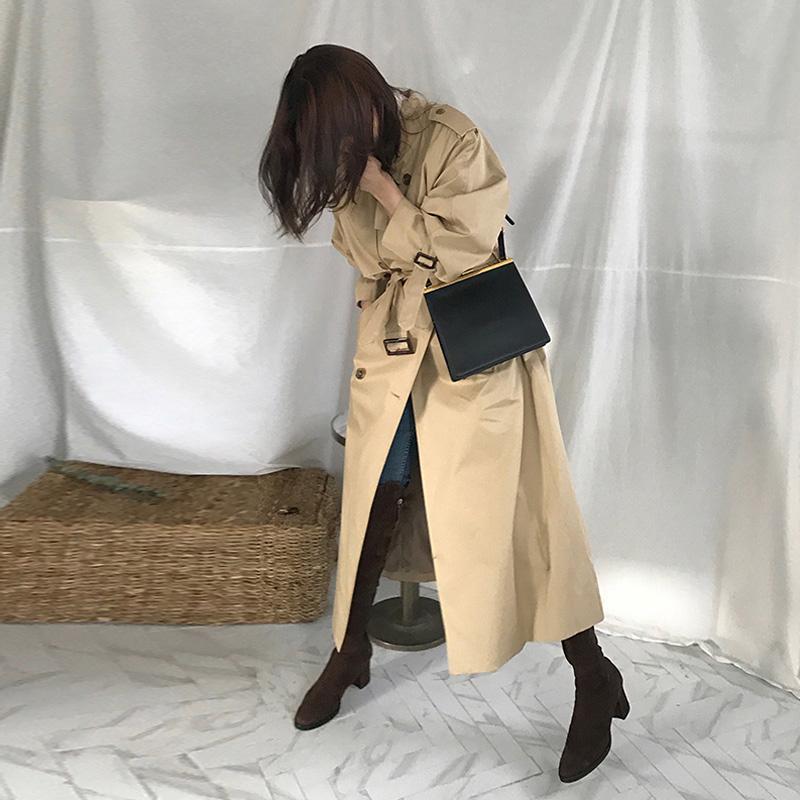 长款风衣 2018春款韩版到脚踝超长款过膝chic风衣外套bf修身春天薄外套女装_推荐淘宝好看的女长款风衣