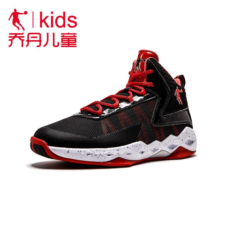 篮球鞋 乔丹童鞋儿童耐磨防滑透气防臭运动球鞋男孩学生少儿篮球比赛战靴_推荐淘宝好看的男篮球鞋